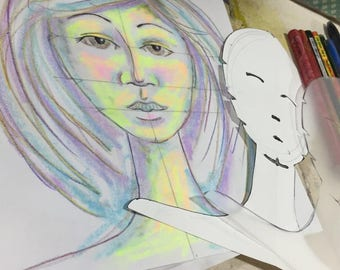Drawing Classes: A Unique Face, Let's Get Girly
