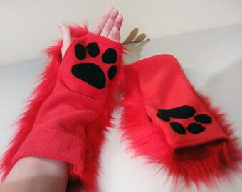 Furry Paw Gloves