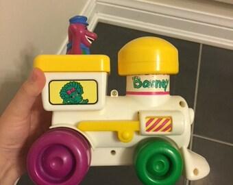 1994 Barney The Dinosaur Toy Train Push and Go