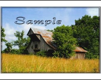 Old Barn Fine Art Photo Card