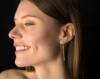 """earrings # 1, sterling silver, collection """"The Players"""""""