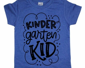 Back to School Shirts, Kindergarten shirts, unisex shirts, boys back to school shirts, Pre-School shirts