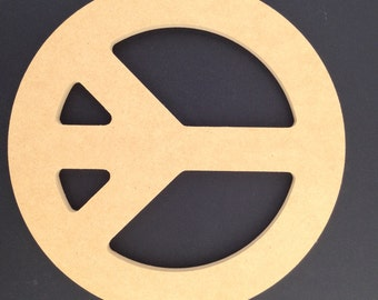 5 Unpainted 12'' Peace Signs Made from  1/2'' MDF A