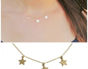 Star Gold Choker Necklace, The Silver Wren, Dainty Choker Necklace, Star Choker Necklace, Choker, Layering Necklace, Gold Necklace