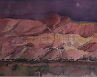 Purple Canyon original watercolor painting