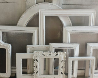 White Picture Frame Set SHIPS FAST White Frames Picture FRAME Set Shabby Chic Ornate Frame Bedroom  Wedding Baby Nursery Cottage Gallery Set