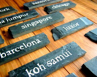 Custom Slate Table Name Signs - Handmade. Perfect for Your Wedding!