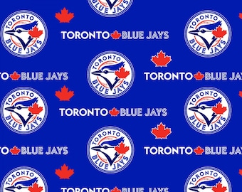 MLB - Toronto Blue Jays - woven cotton licensed major league baseball print maple leaf blue