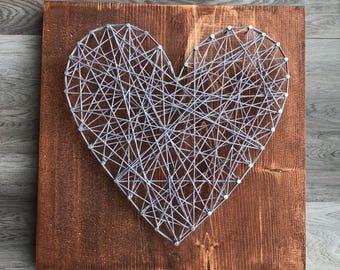 Heart String Art KIT, string art, kits for kids, kits for adults, string art heart, DIY, craft kit, nail string art, string art heart, kit