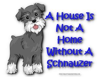 Schnauzer Puppy Photoshop Enhanced Art