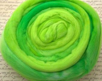 18.5 Micron Merino Wool Fibre- Lime Fizz