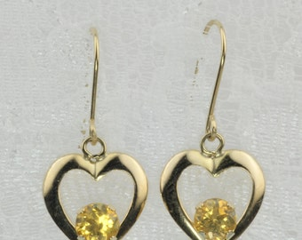 with earrings matisse butterfly citrine lemon