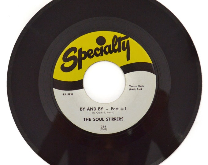 Vintage 70s The Soul Stirrers By and By Gospel Blues 45 RPM Single Record Vinyl