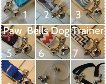 Paw Bells Sturdy Poly Webbing Training Bells, Dog Potty Trainer, Instructions included