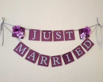 Just Married Wedding Banner - Ready to Ship