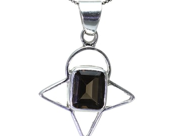 Smoky Quartz Pendant, 925 Sterling Silver, Unique only 1 piece available! color brown, weight 7.4g, #26218