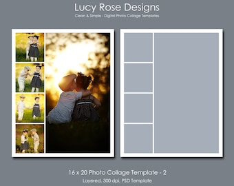 16 x 20 Photo Collage Template - 2