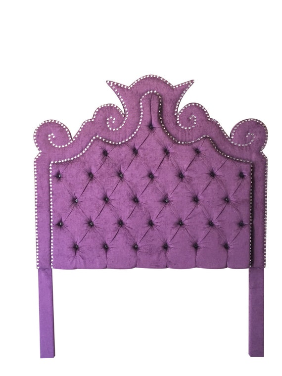 co kitlab twin purple tufted headboard