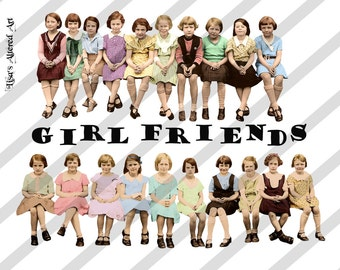 Digital Collage Sheet Girlfriend Images  (Sheet no. O69) instant Download