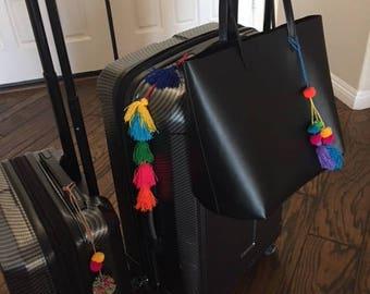 Fuzzy pom poms for purse/bags/luggage