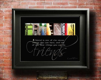 Friends Quote Gift | Friendship Quote | Gift for a friend | Best Friend Gift Friendship Gift | Friend Appreciation Thank You Gifts PRINTABLE