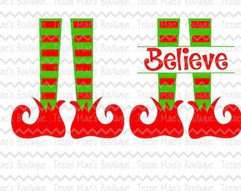 SVG, DXF, EPS cutting file, Elf Feet, Elf Feet Split, Christmas svg, tessiemaes, silhouette file, cameo, scrapbooking, cricut file