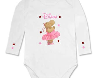 Bodysuit Hipopotame dancer personalized with name