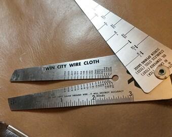 Wire Gauge Measure Steampunk In Case