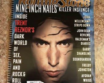 Vintage Trent Reznor 1994 Rolling Stone Magazine Nine Inch Nails Collectible Music Memorabilia