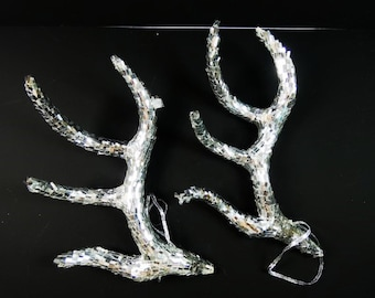 1 Set Fake Antlers Artificial Antlers Silver Antlers Glitter Antlers Sparkly Antler Cosplay Antlers