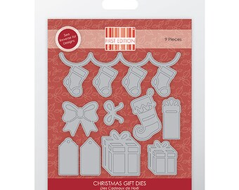 First Edition Christmas Stocking and Gift 9 Piece Die Set