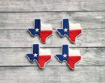 4 Texas shaped flag felties multiple sizes available