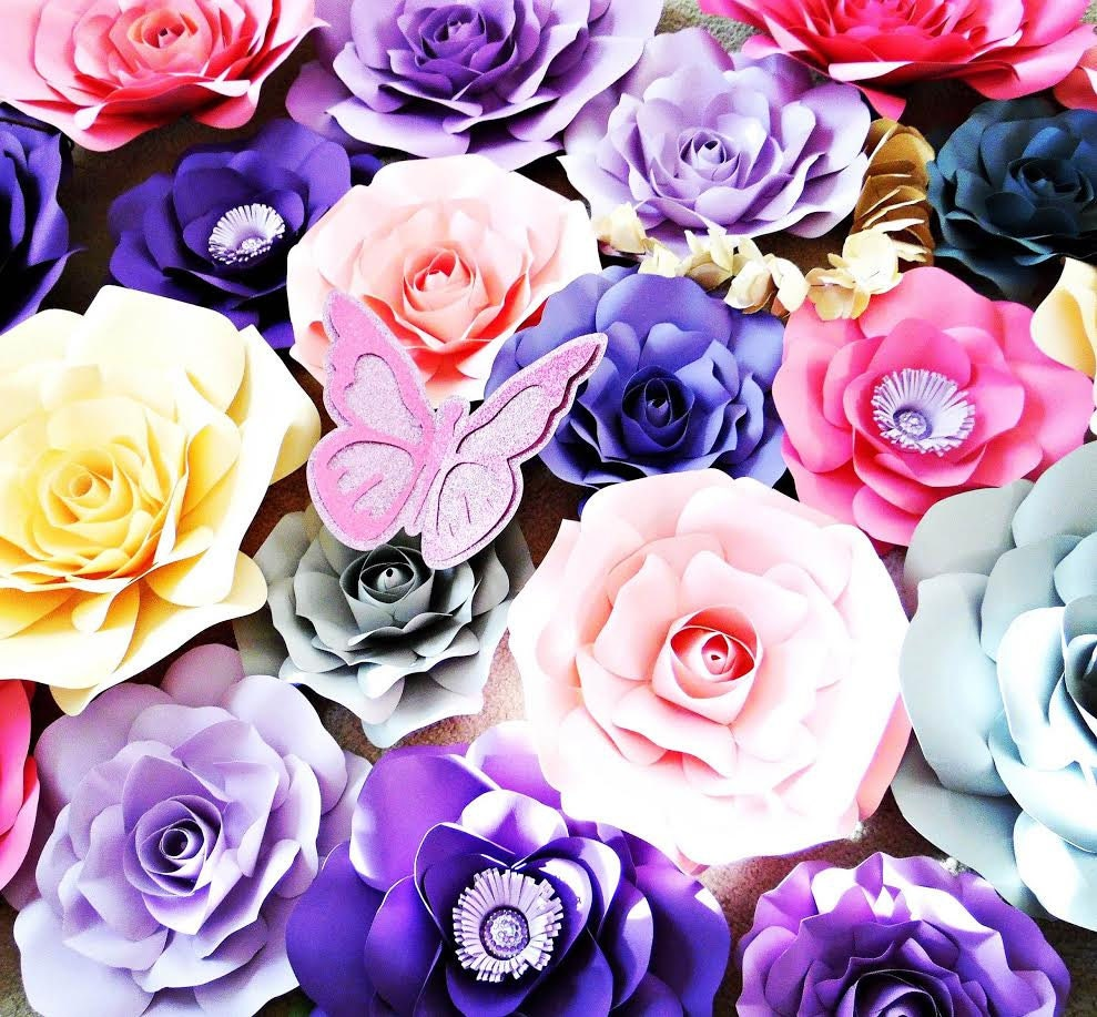 Giant Paper Flower Rose Templates Paper Flower Patterns Tutorials