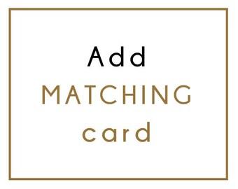 Add matching card