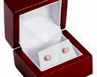 1 Rosewood Earring Jewelry Display Gift Box