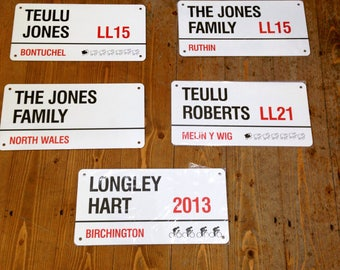 Personalised Aluminium / Metal Family London Street Sign Great istmas or New House Moving or Wedding Gift