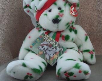 TY Beanie Buddy ,Beanie buddies  ,TY Christmas Bear , Christmas bear 1998, Holiday teddy bear ,Beanie babies , Stuffed Animal  Bear