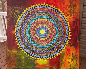 Mandala on canvas