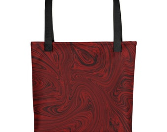 Fluid Red Tote bag    purse, bag, summer, beach bag, fluid art
