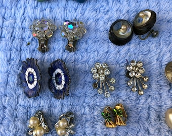Vintage Earrings for Craft Project