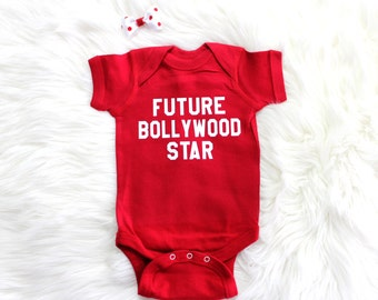 Future Bollywood Star Baby Clothes, Bodysuit, Baby Shower Gift, Funny Baby Clothes, Baby Boy, Baby Girl, Baby Bollywood Star #30