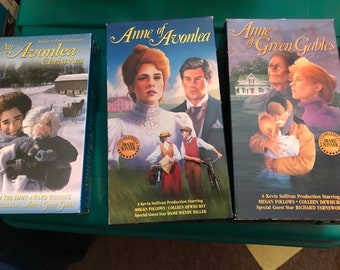 Lot of 3 Anne of Green Gables Movies