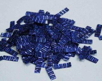 100 Bright Blue Color /Crimpled Texture/Metallic/ Rectangle Sequins/KBRGS304