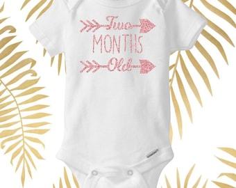 Two Month Baby Onesie, Birthday Baby Onesie, Personalized Baby Onesie, Custom Baby Onesie, Custom Baby Bodysuit