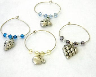Fruit Wine Charms Set of 4