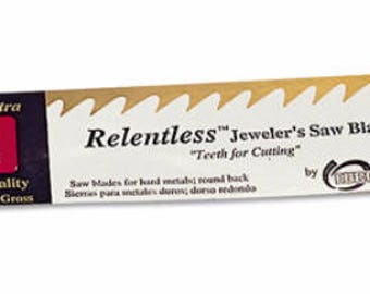 RELENTLESS saw blades 1 dozen~2 sizes available~Great for sawing metals