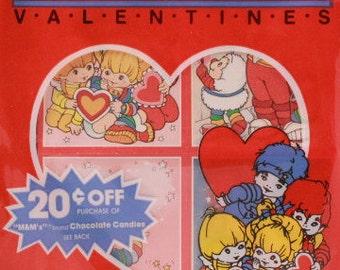 Vintage 1983 Hallmark Rainbow Brite Valentines Card Box Set. 5 Designs, 6 Each and Envelopes
