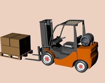 Forklift.