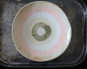 White ceramic plate white , handmade
