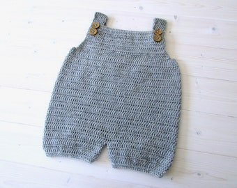 Crochet Robin Dungarees / Romper Written Pattern - Simple Baby / Children's Dungarees Pattern